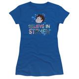Steven Universe Believe Junior Women's T-Shirt Royal Blue