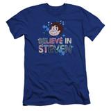 Steven Universe Believe Premium Adult 30/1 T-Shirt Royal Blue