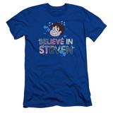 Steven Universe Believe Adult 30/1 T-Shirt Royal Blue
