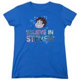 Steven Universe Believe Women's T-Shirt Royal Blue