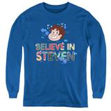 Steven Universe Believe Youth Long Sleeve T-Shirt Royal Blue