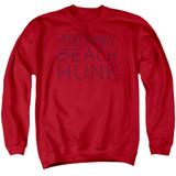Steven Universe Beach Hunk Adult Crewneck Sweatshirt Red