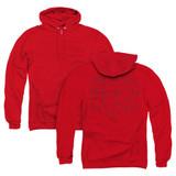 Steven Universe Beach Hunk (Back Print) Adult Zipper Hoodie Sweatshirt Red