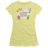 Steven Universe Crying Breakfast Friends Junior Women's T-Shirt Banana