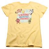 Steven Universe Crying Breakfast Friends Women's T-Shirt Banana
