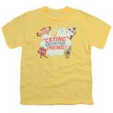 Steven Universe Crying Breakfast Friends Youth T-Shirt Banana