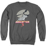 Steven Universe Dogcopter 3 Adult Crewneck Sweatshirt Charcoal