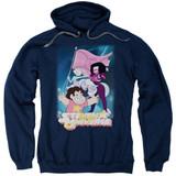 Steven Universe Crystal Gem Flag Adult Pullover Hoodie Sweatshirt Navy
