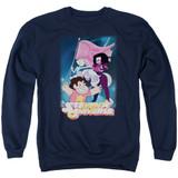 Steven Universe Crystal Gem Flag Adult Crewneck Sweatshirt Navy
