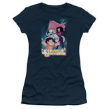 Steven Universe Crystal Gem Flag Junior Women's T-Shirt Navy