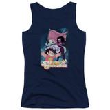 Steven Universe Crystal Gem Flag Junior Women's Tank Top T-Shirt Navy