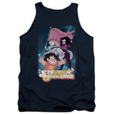 Steven Universe Crystal Gem Flag Adult Tank Top T-Shirt Navy
