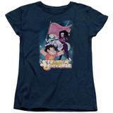 Steven Universe Crystal Gem Flag Women's T-Shirt Navy