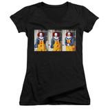 IT 1990 Joke Junior Women's V-Neck T-Shirt Black