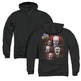 IT 1990 Many Faces Of Pennywise (Back Print) Adult Zipper Hoodie Sweatshirt Black