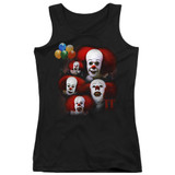 IT 1990 Many Faces Of Pennywise Junior Women's Tank Top T-Shirt Black