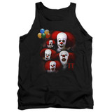 IT 1990 Many Faces Of Pennywise Adult Tank Top T-Shirt Black