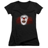 IT 1990 Every Nightmare You've Ever Junior Women's V-Neck T-Shirt Black