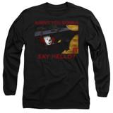 IT 1990 Hello Adult Long Sleeve T-Shirt Black