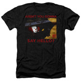 IT 1990 Hello Adult Heather T-Shirt Black