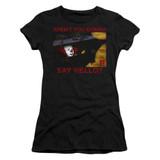 IT 1990 Hello Junior Women's T-Shirt Black