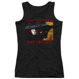 IT 1990 Hello Junior Women's Tank Top T-Shirt Black