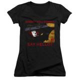 IT 1990 Hello Junior Women's V-Neck T-Shirt Black