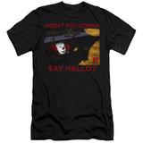 IT 1990 Hello Premium Adult 30/1 T-Shirt Black