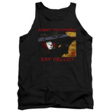 IT 1990 Hello Adult Tank Top T-Shirt Black