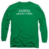 It's Always Sunny In Philadelphia Paddy's Logo Adult Long Sleeve T-Shirt Kelly Green