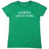 It's Always Sunny In Philadelphia Paddy's Logo Women's T-Shirt Kelly Green