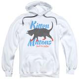 It's Always Sunny In Philadelphia Kitten Mittons Adult Pullover Hoodie Sweatshirt White
