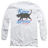 It's Always Sunny In Philadelphia Kitten Mittons Adult Long Sleeve T-Shirt White