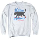 It's Always Sunny In Philadelphia Kitten Mittons Adult Crewneck Sweatshirt White