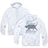 It's Always Sunny In Philadelphia Kitten Mittons (Back Print) Adult Zipper Hoodie Sweatshirt White