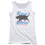 It's Always Sunny In Philadelphia Kitten Mittons Junior Women's Tank Top T-Shirt White