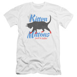 It's Always Sunny In Philadelphia Kitten Mittons Premium Canvas Adult Slim Fit T-Shirt White