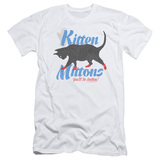 It's Always Sunny In Philadelphia Kitten Mittons Adult 30/1 T-Shirt White