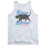 It's Always Sunny In Philadelphia Kitten Mittons Adult Tank Top T-Shirt White