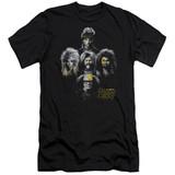 It's Always Sunny In Philadelphia Rocker Heads Premium Canvas Adult Slim Fit T-Shirt Black