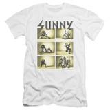 It's Always Sunny In Philadelphia Rock Photos Premium Canvas Adult Slim Fit T-Shirt White