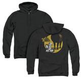 It's Always Sunny In Philadelphia Pile (Back Print) Adult Zipper Hoodie Sweatshirt Black