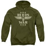 It's Always Sunny In Philadelphia Birds Of War Adult Pullover Hoodie Sweatshirt Military Green