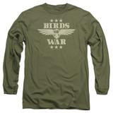 It's Always Sunny In Philadelphia Birds Of War Adult Long Sleeve T-Shirt Military Green