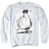 Ferris Bueller's Day Off Cameron Adult Crewneck Sweatshirt White