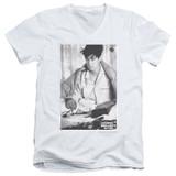 Ferris Bueller's Day Off Cameron Adult V-Neck T-Shirt White