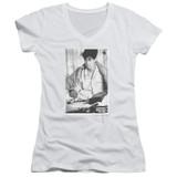 Ferris Bueller's Day Off Cameron Junior Women's V-Neck T-Shirt White