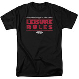 Ferris Bueller's Day Off Leisure Rules Adult 18/1 T-Shirt Black