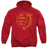 Ferris Bueller's Day Off Abe Froman Adult Pullover Hoodie Sweatshirt Red