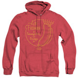 Ferris Bueller's Day Off Abe Froman Adult Heather Hoodie Sweatshirt Red